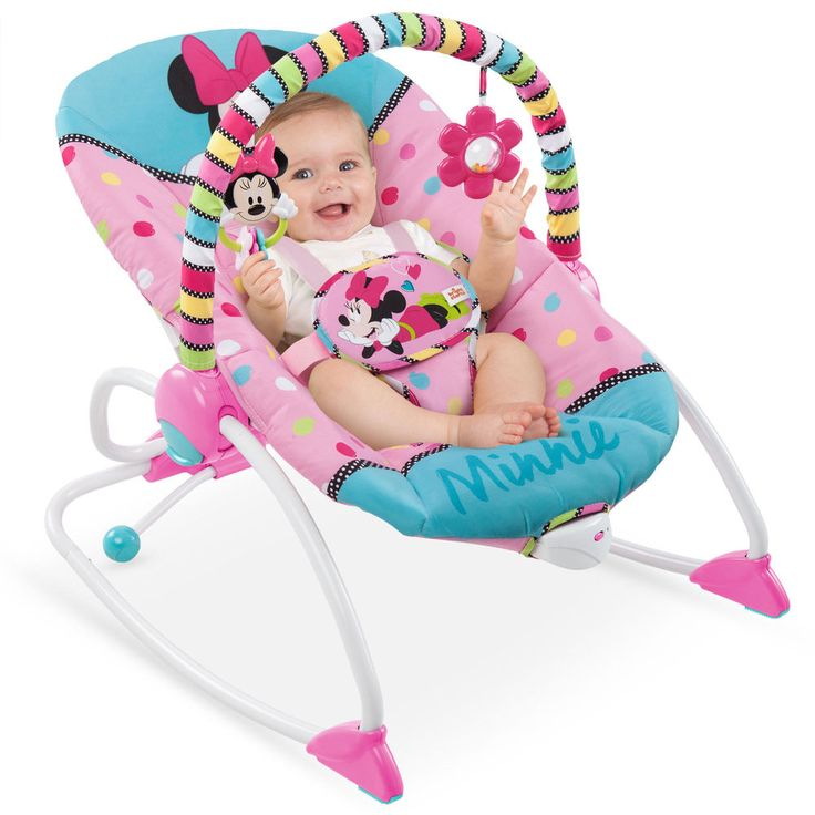Baby Rocker Recliner Chair Infant Toddler Bouncer Minnie Mouse Vibrating Seat US #BabyRockerRecliner