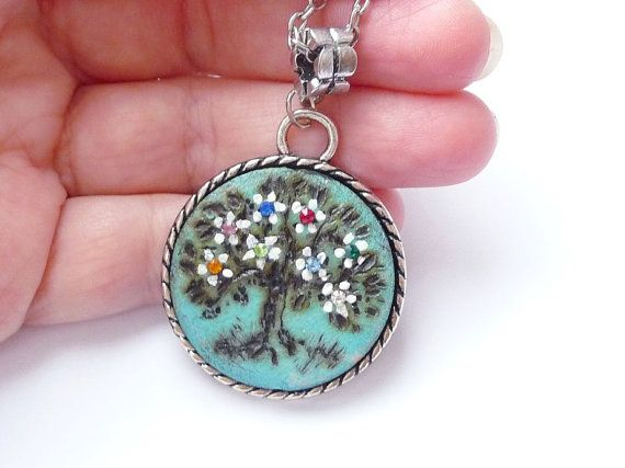 Blue Mothers day Family necklace jewelry  gift for mom gift.