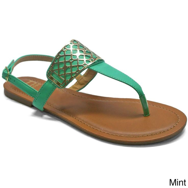 These trendy T-strap thong sandals are the ideal accessory for your warm weather collection.    #sandal