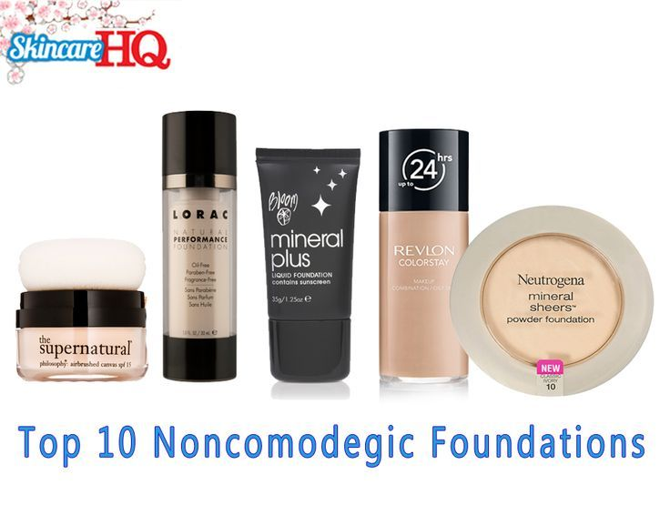 Best Non Comedogenic Foundation . *Learn about non comedogenic moisturizers and see my top picks at http://bestmoisturizerguide.com/non-comedogenic-moisturizer.
