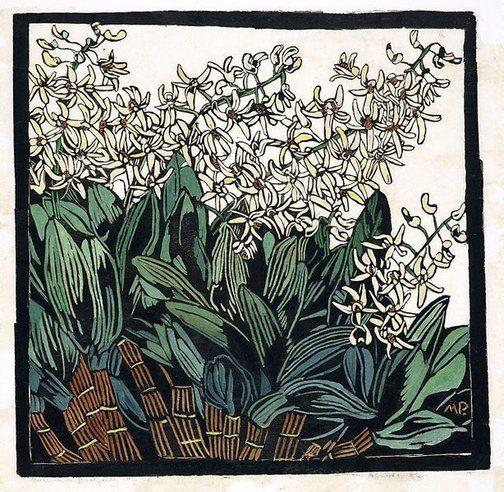An image of Australian rock lily by Margaret Preston