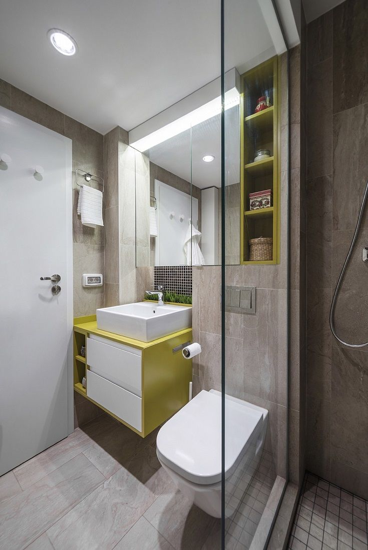 bathroom small space design%0A    Small One Bedroom Apartment Design Ideas for Busy Couples
