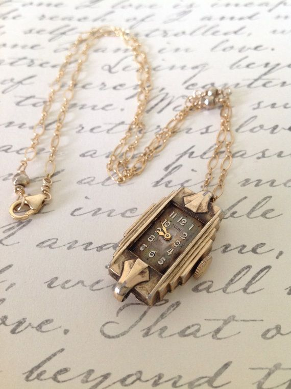 For the vintage lover: Antique Watch Necklace