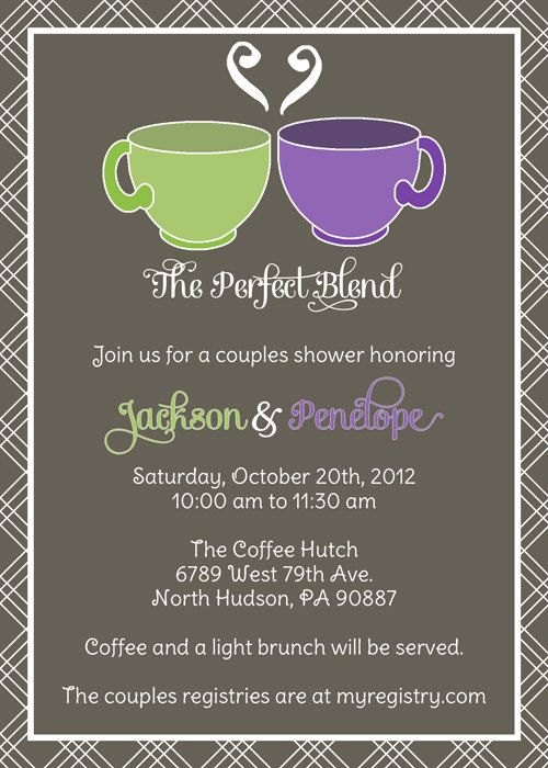 coffee or tea couples shower invitation perfect blend couples shower digital printable file