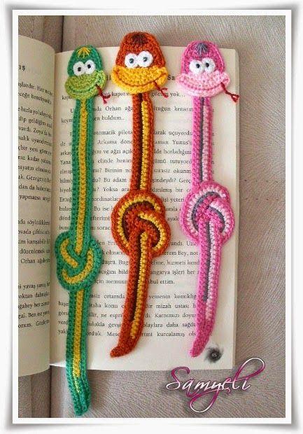 Samyelinin Örgüleri: Kitap Ayracı (YILAN)Snake Bookmark Crochet Pattern Pattern by LittleOwlsHut