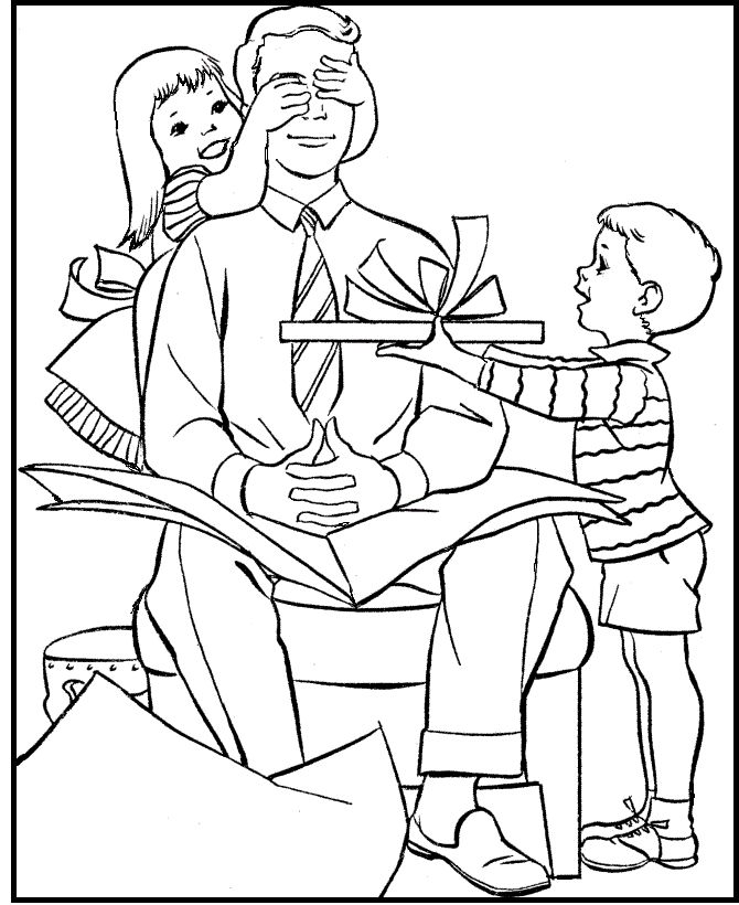 Father's Day Surprise For Dad coloring picture for kids ...