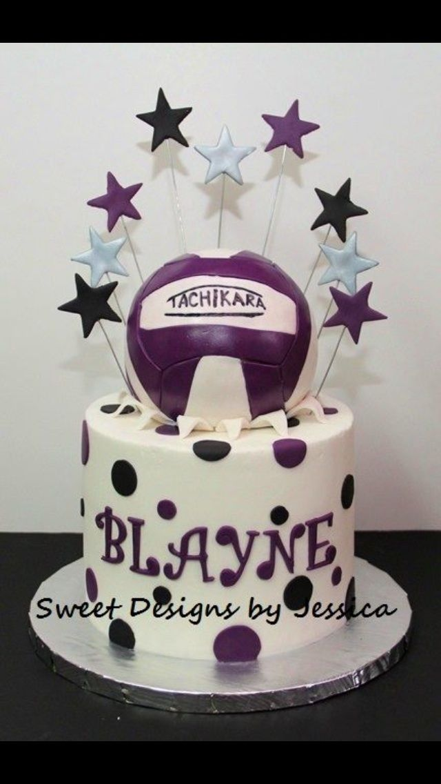 Blayne's 17th volleyball themed cake