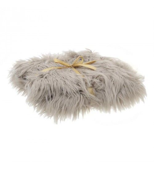 FAUX FUR THROW IN BEIGE COLOR 140X160
