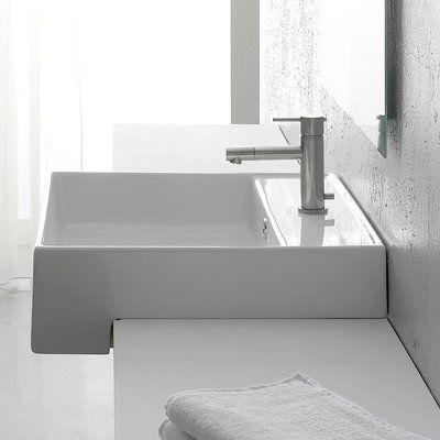 Nameeks Art. 8031/D Scarabeo Teorema Washbasin Wall Mount Bathroom Sink,  White |
