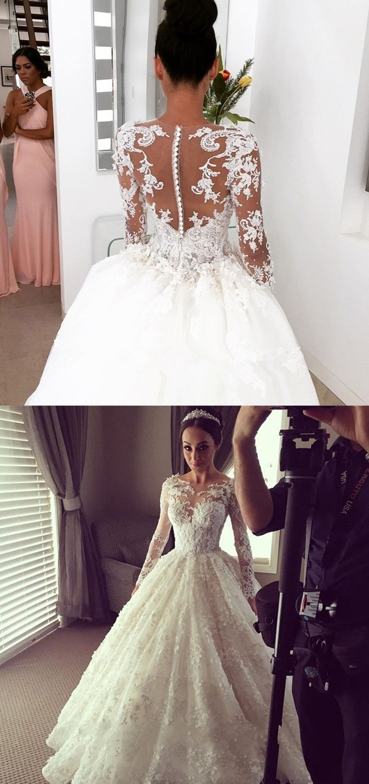 #lace wedding dresses #wedding dresses long sleeves #ball gown wedding dresses…