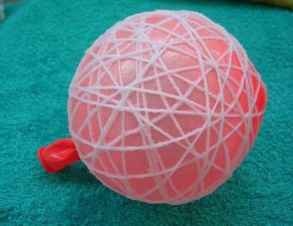 Van ballon naar kerstbal, makkelijk te maken