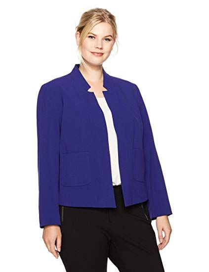 12a1625f0e06c The perfect Nine West Women s Plus Size Solid Bi Stretch Kiss Front Jacket  online.   129.00  allfashiondress from top store