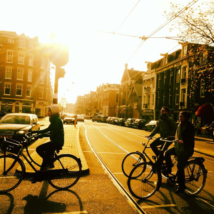 Amsterdam winter cyclists