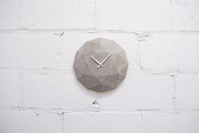 Cairo Star Cut Concrete Clock