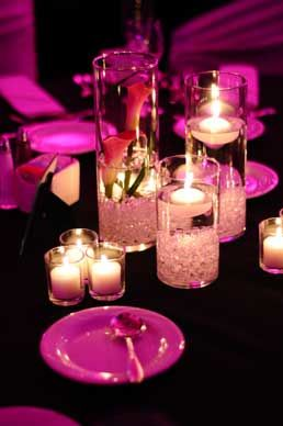 Hot Pink centerpiece by Wild Orchid Custom Floral Design