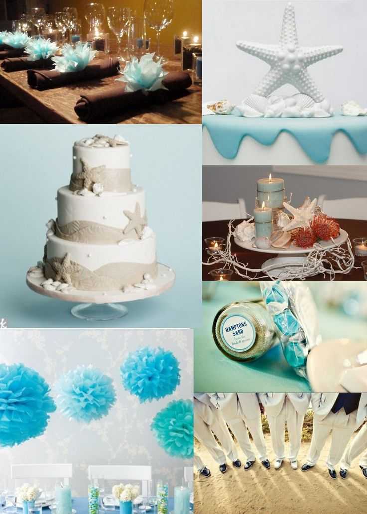 wedding shower centerpieces beach theme%0A If I were to plan a beach theme wedding or bridal shower I just might