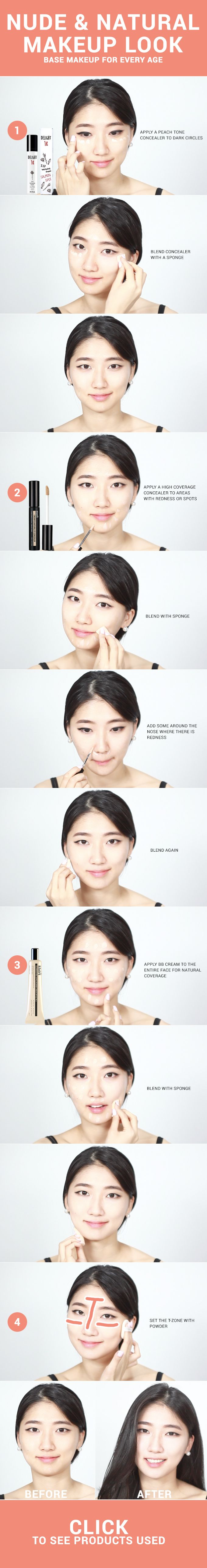Makeup doesn't have to be as complex & age restricted as you think. Getting a natural makeup look with this technique can bring life to your daily look! - http://www.wishtrend.com/glam/natural-makeup-look-for-every-age/