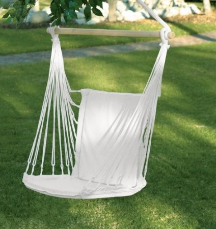 $40: Cotton Padded Swing Hammock Chair - these would work in my courtyard