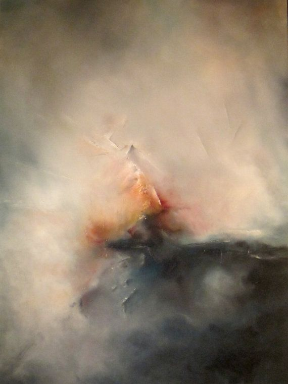 Abstract Oil Painting For Sale. £1,250.00, via Etsy.