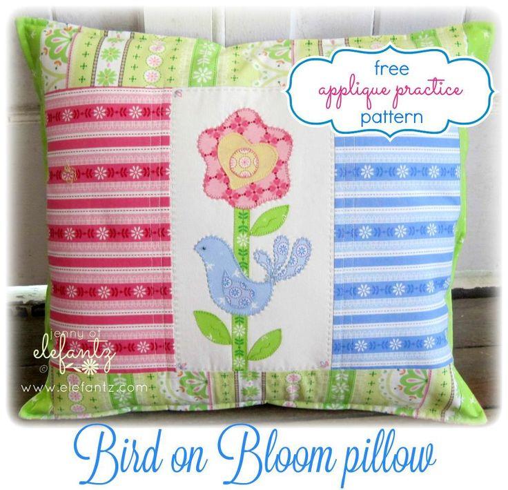 You\u0027re going to love Bird on Bloom - applique cushion by designer Elefantz. & 435 best Appliqués! images on Pinterest   Stitching Embroidery ... pillowsntoast.com