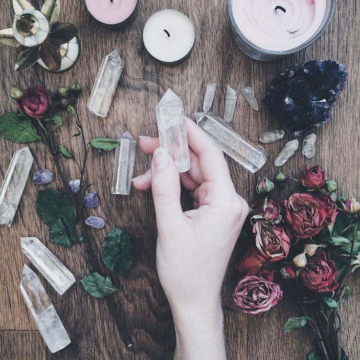 crystals, candles  https://www.instagram.com/snowmirrorapple/