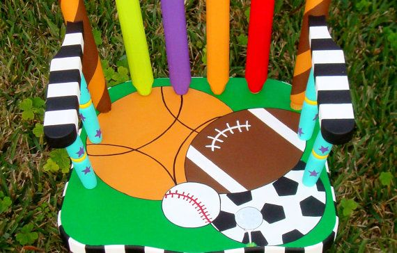 Sports Themed Child S Rocking Chair Football By Elliesshop