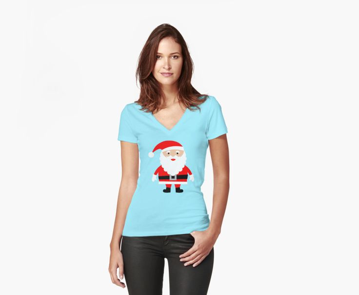 Cute Santa. Do you love Christmas like i do? If so you will love this Cute Santa V-Neck T-Shirt. This Cute Santa V-Neck T-Shirt is sure to get you in the Christmas spirit. This T-Shirt is available in many sizes. Or why not give this Cute Santa T-Shirt to somebody as a different gift?