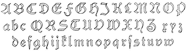 Schwabach Alphabet