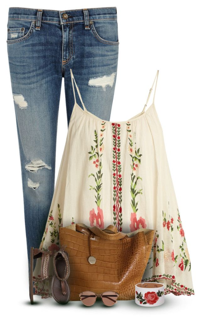 """""""Tank & Jeans"""" by cindycook10 on Polyvore featuring rag & bone/JEAN, Mes Demoiselles..., Furla, Roxy, Witchery, ootd, simpleoutfit and outfitonly"""