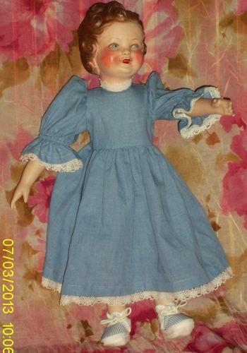ancienne poupée Gégé Lisette de 1946 hybride doll vintage tête en terre de pipe