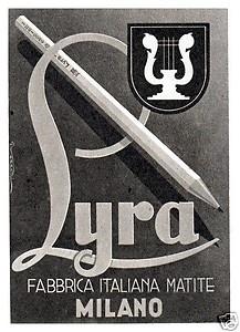 LIRA FABBRICA ITALIANA DI MATITE MILANO 1948