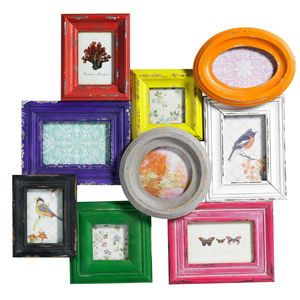 Multicoloured Combination Frame For Nine Pictures