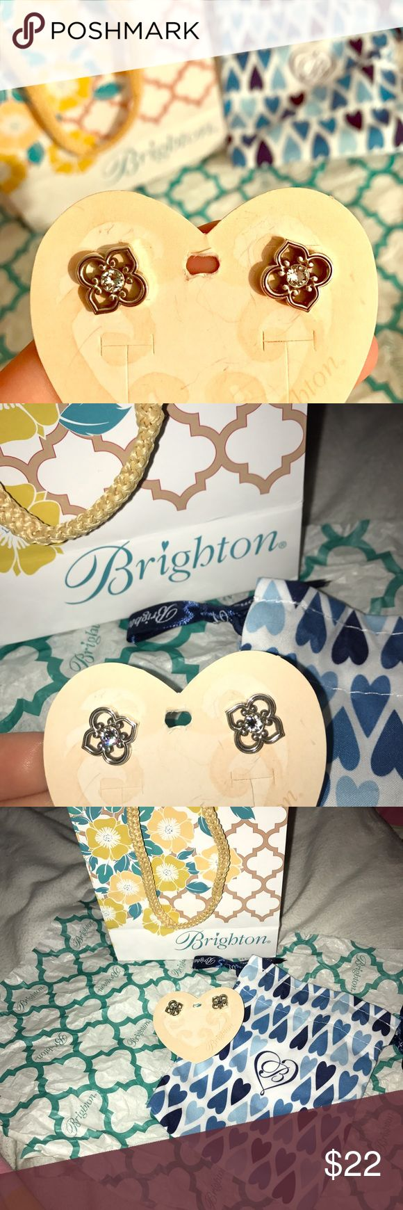 Brighton earrings! Cute Brighton earrings, never worn. Still with earring pouch and gift bag. Brighton Jewelry Earrings
