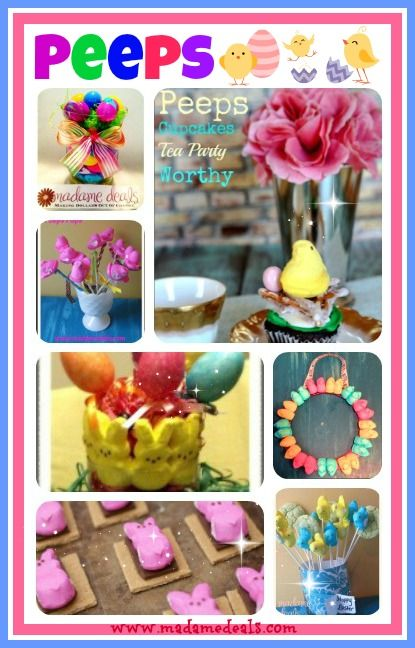 Peeps Projects and Recipes Round Up! http://madamedeals.com/peeps-projects-and-recipes/ #peeps #easter #recipes #inspireothers