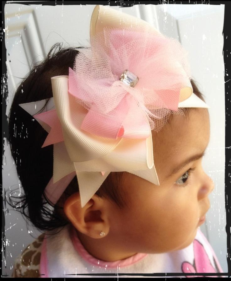 Baby hair bow handmade