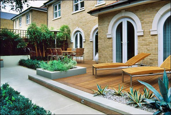designer contemporary garden south London
