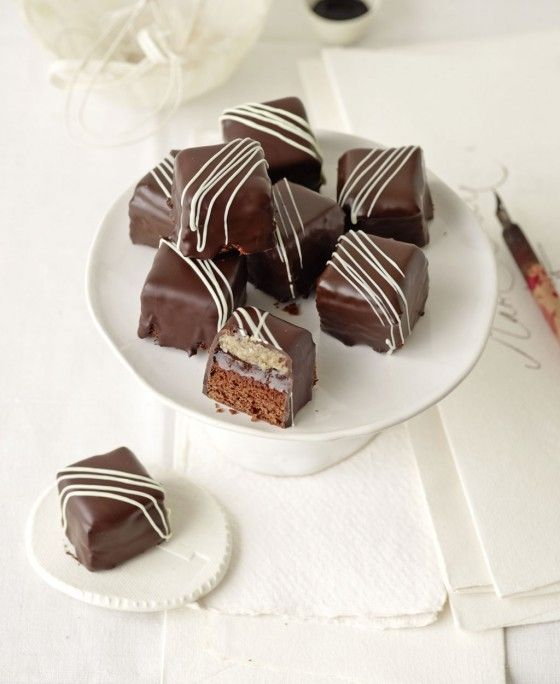 Dominosteine - Plätzchen mit Schokolade