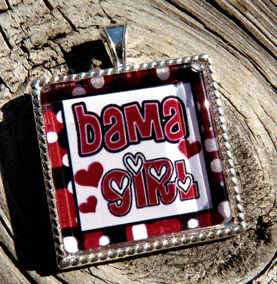 Glass Tile Pendant Alabama TilePendants Alabama, Bama Stuff, Alabama Football, Tide, Alabama Rtr, Glasses Tile Pendants, Alabama Tile, Alabama Crimson, Rolls