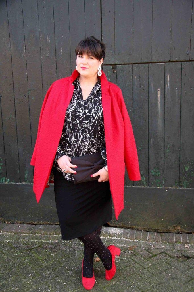 x-two.red, strakke rok, grote maten, zwarte rok, feestelijke mode, plus size