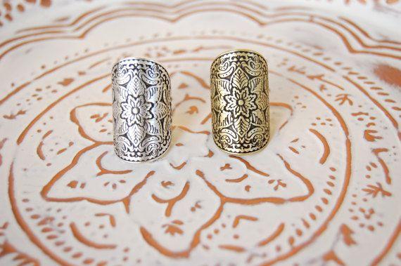 Silver/Brass Statement MANDALA Flower Ring by WalktheTalkJewelry