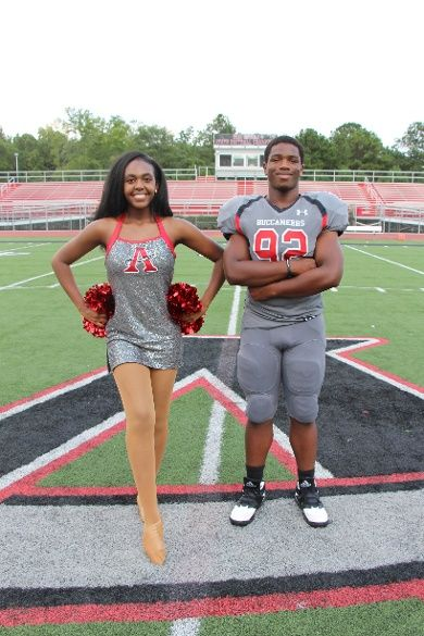 Allatoona Hotshotz Dance Team Custom Dance Costumes - Inspired by the football team's uniforms!