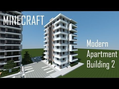 Minecraft Modern Apartment Building 2 You City House Plans