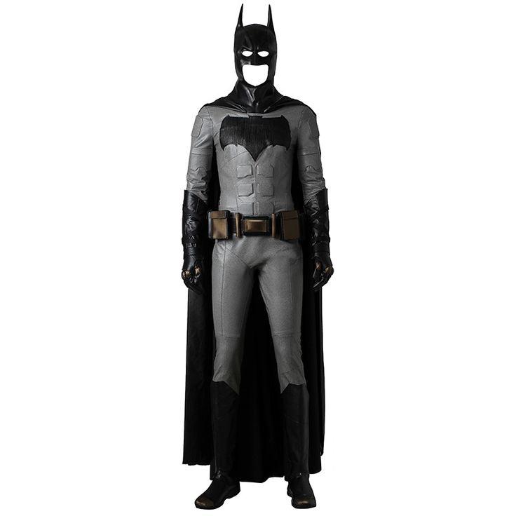 Justice League Batman Cosplay Costume Bruce Wayne Outfit Halloween Clothes Movie Superhero Suit Black Cloak Boots Mask Adult Men