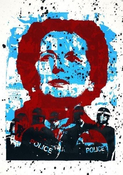 Margaret Thatcher Miners' Strike original by colmmccarthy, $30.00