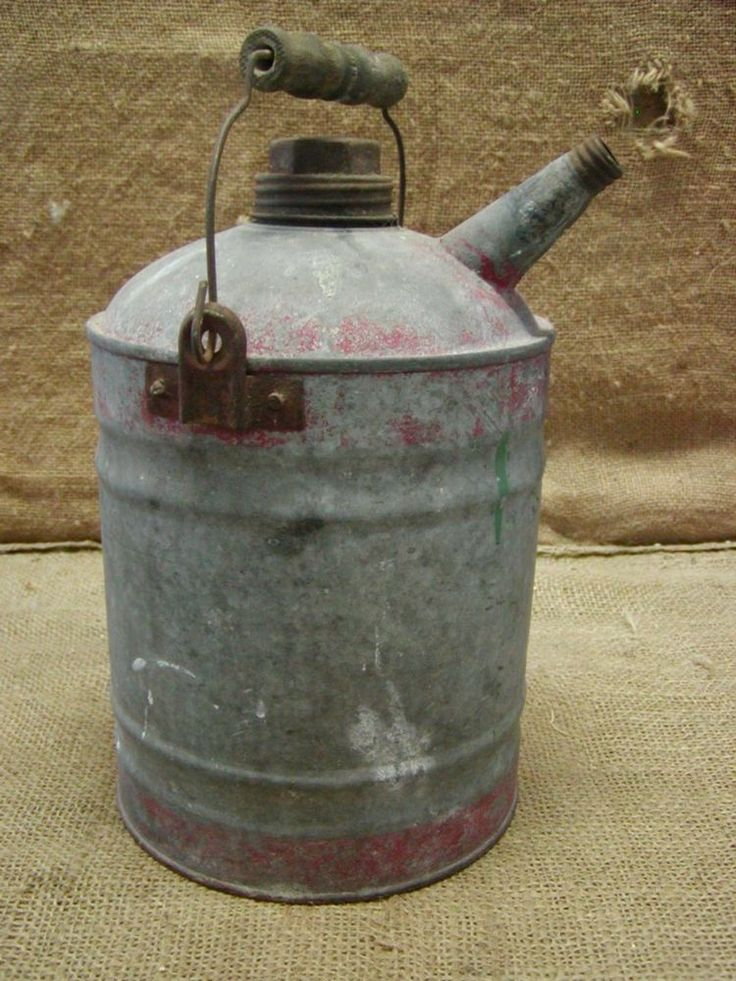 Vintage Galvanized Metal Fence Top Finial Fence Post: 24 Best Gas ~ Oil Cans Images On Pinterest