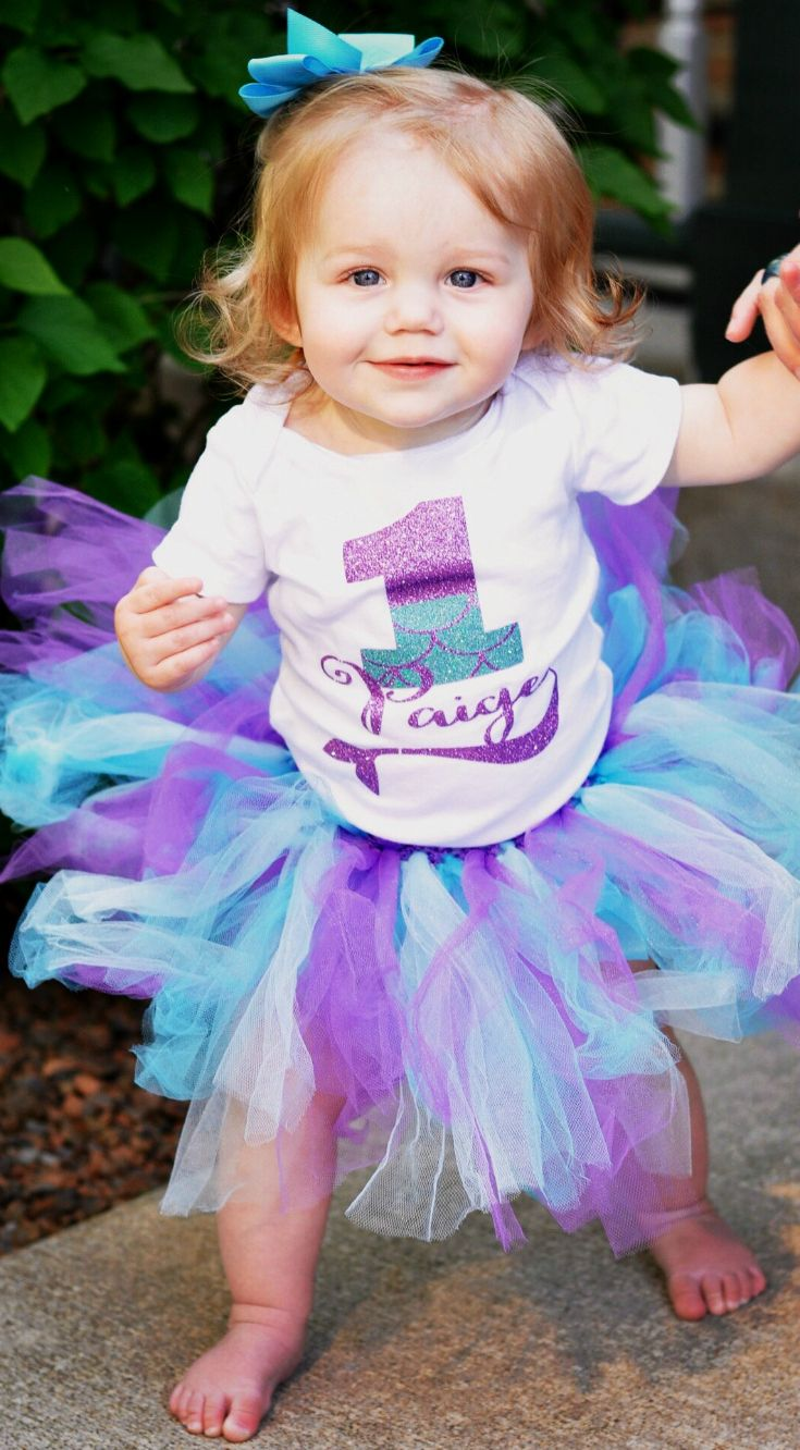 Little Mermaid Birthday Outfit Personalized With Any Age And Any Name Perfect For A Merma Mermaid Birthday Outfit Birthday Outfit Minnie Mouse Birthday Outfit