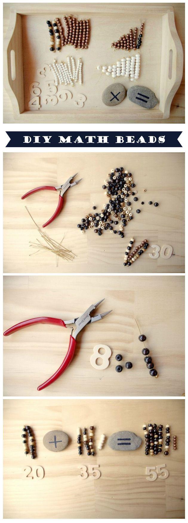 {DIY Montessori Beads and Math Exercises}