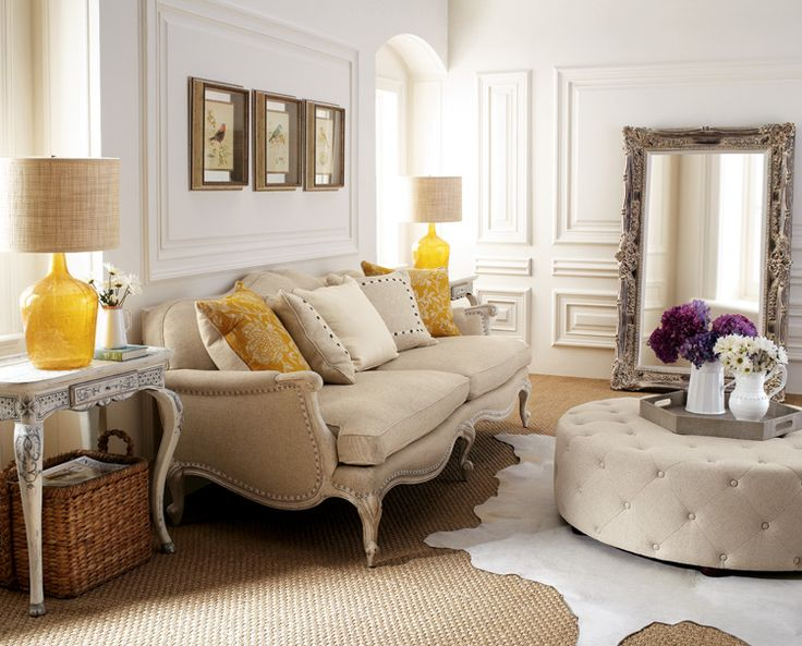 Living Room: Neutral Palette That Keeps From Being Boring With The Addition  Of Textures And