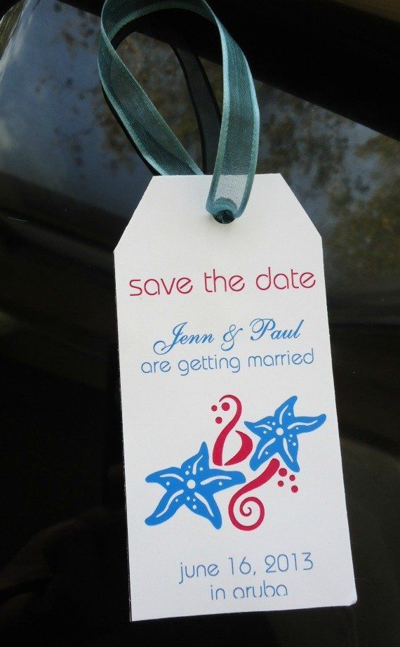 destination wedding save the dates and invitations%0A Get this free luggage tag save the date destination weddings template  This  fun and easy DIY save the date comes with an easy step by step tutorial