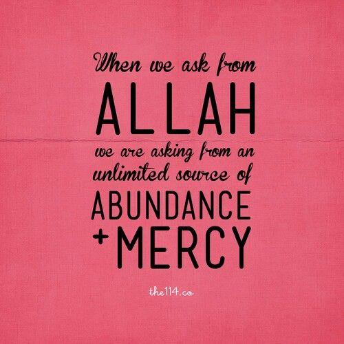 Abundance and mercy